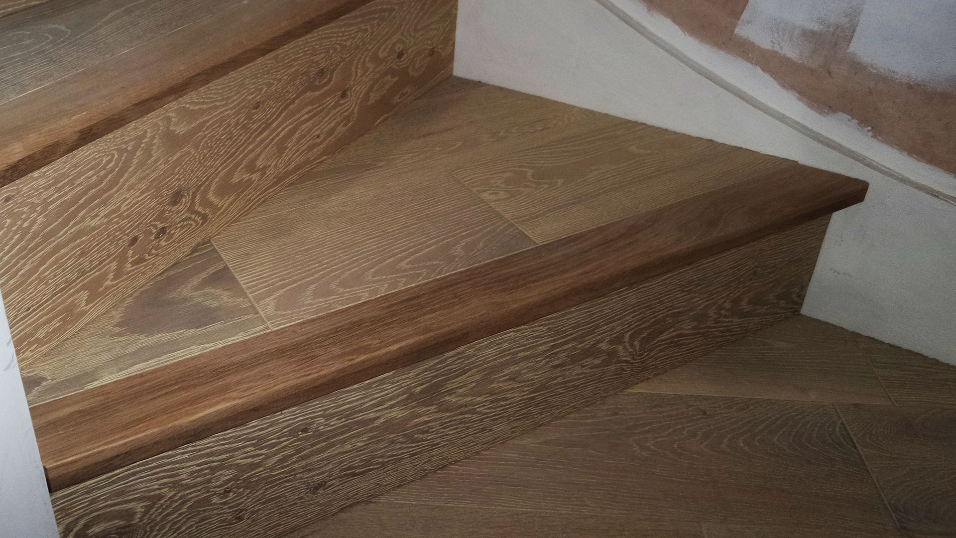 Engineered wood floring for stairs